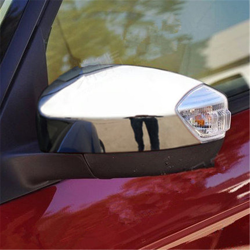 Car-covers high quality ABS Chrome Rearview mirror cover Trim/Rearview mirror Decoration For Ford S-MAX 2007-2012 Car styling
