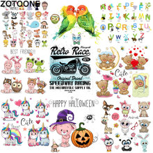 ZOTOONE Ironing Unicorn Clothing Sticker DIY Childrens Patch A High Elasticity Washing and Printing Hot Press