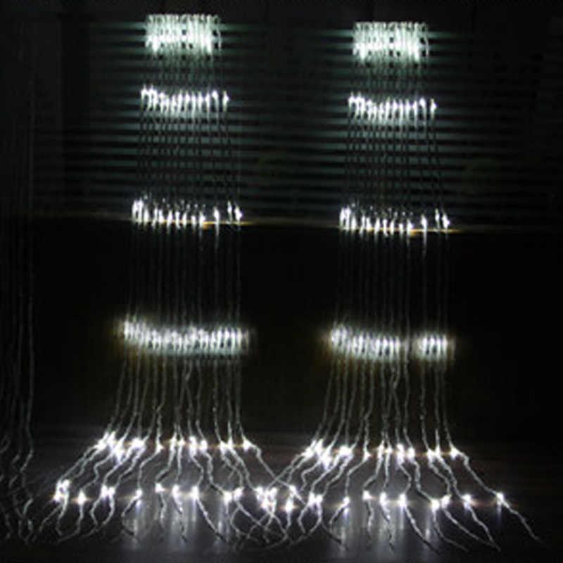 3 м х 3 м светодиодный Рождественская гирлянда 320 занавеска со светодиодами свет вечерние Фея Свадебные Xmas отель Holiday украшение лампы 220 v ЕС