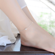 TJP 2018 Latest Frosted Ball Silver 925 Anklets For Women Engagement Party Fashion Simple Girl Bracelets Jewelry Hot Female Gift