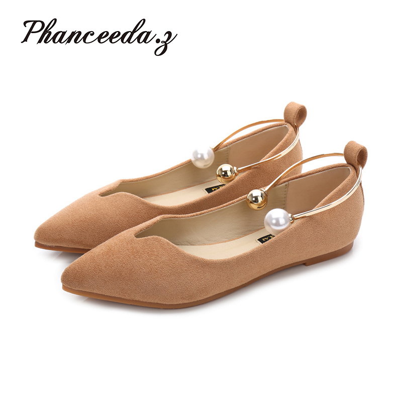 New 2017 New Spring Shoes Women Flats Top quality Flat Shoes  European Style  Loafers Round Toe Casual Shoes Plus Size 5-10