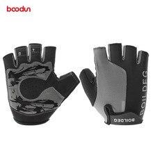 ФОТО boodun bicycle racing gloves half finger breathable anti slip gloves bike bicycle motorcycle summer outdoor sports equipment