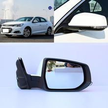 Brand New 9 Pins Power Adjusted Power Heated Blue Glass Side View Mirror For Chevrolet Malibu 2012-2018 цены онлайн