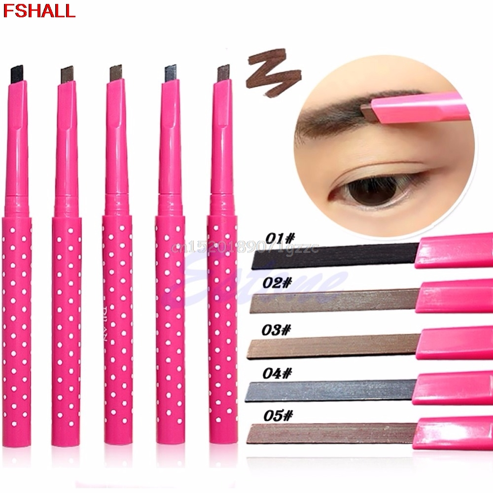 eyebrow pencil 5 Colors Waterproof Longlasting Eyeliner Eyebrow Pencil Cosmetics Makeup Tools #H027#