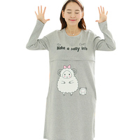 Outono de manga comprida Vestidos Plus Size mulheres grávidas alimentação maternidade amamentação enfermagem Vestidos vestido