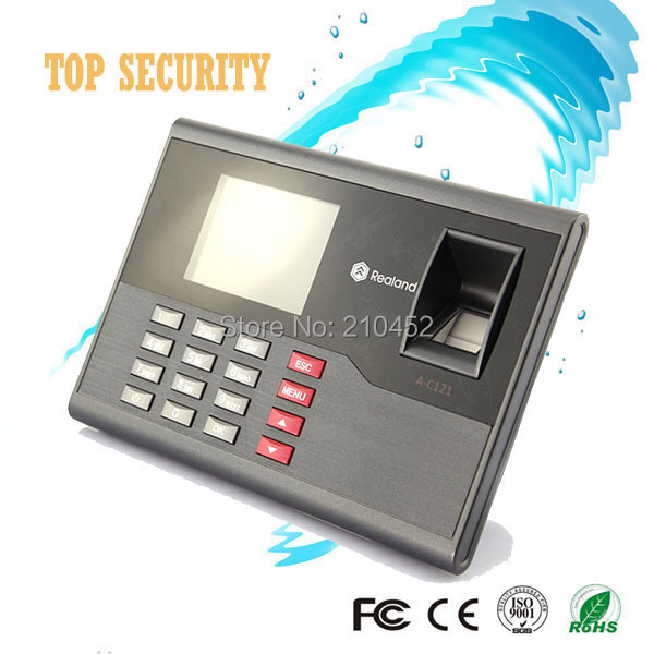 Biometric fingerprint time attendance with RFID card reader high speed TCP/IP USB communication time control device A/C121