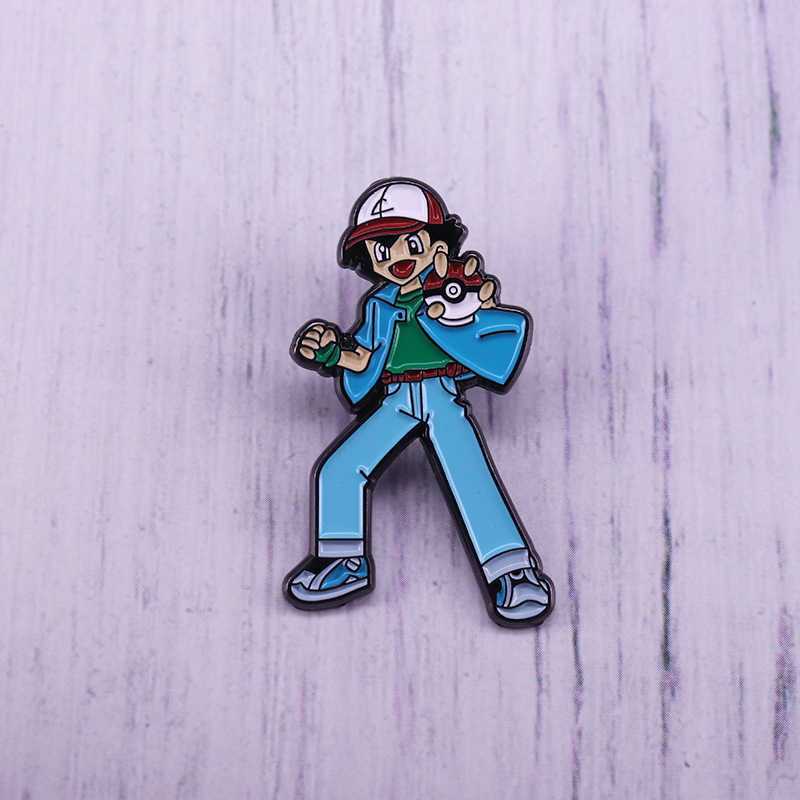 Ash Ketchum Pokemon Trainer Smalto Personalizzato Spille