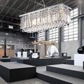 Retângulo CONDUZIU a Luz Iluminação Contemporânea Lustres de Cristal Luzes de Suspensão com Dispositivos Elétricos Da Lâmpada L100 * W25CM VALLKIN Iluminação