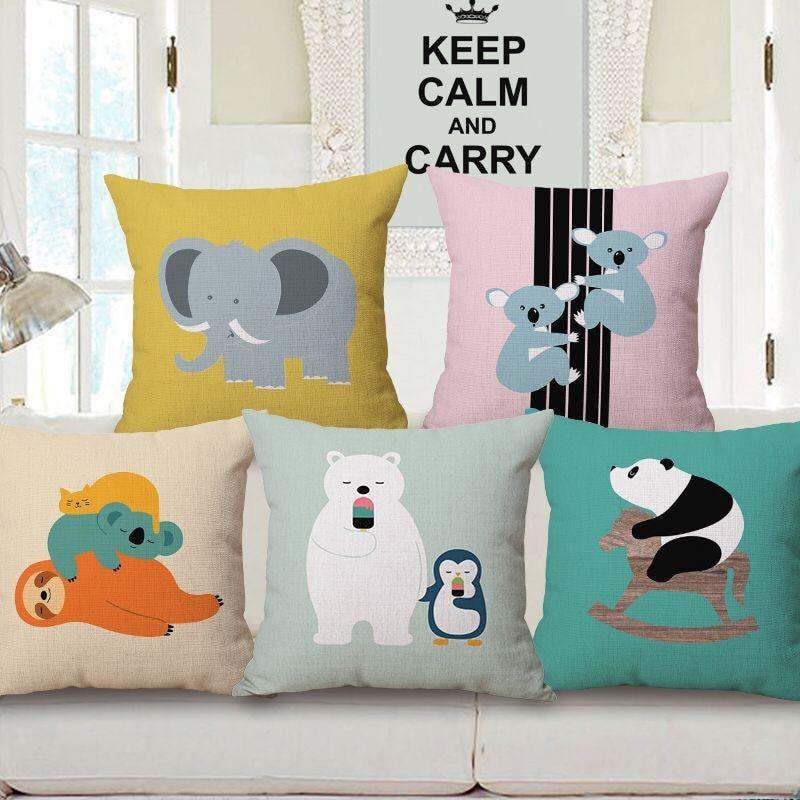 Children Animal Cushion Decorative Giraffe Koala Bear