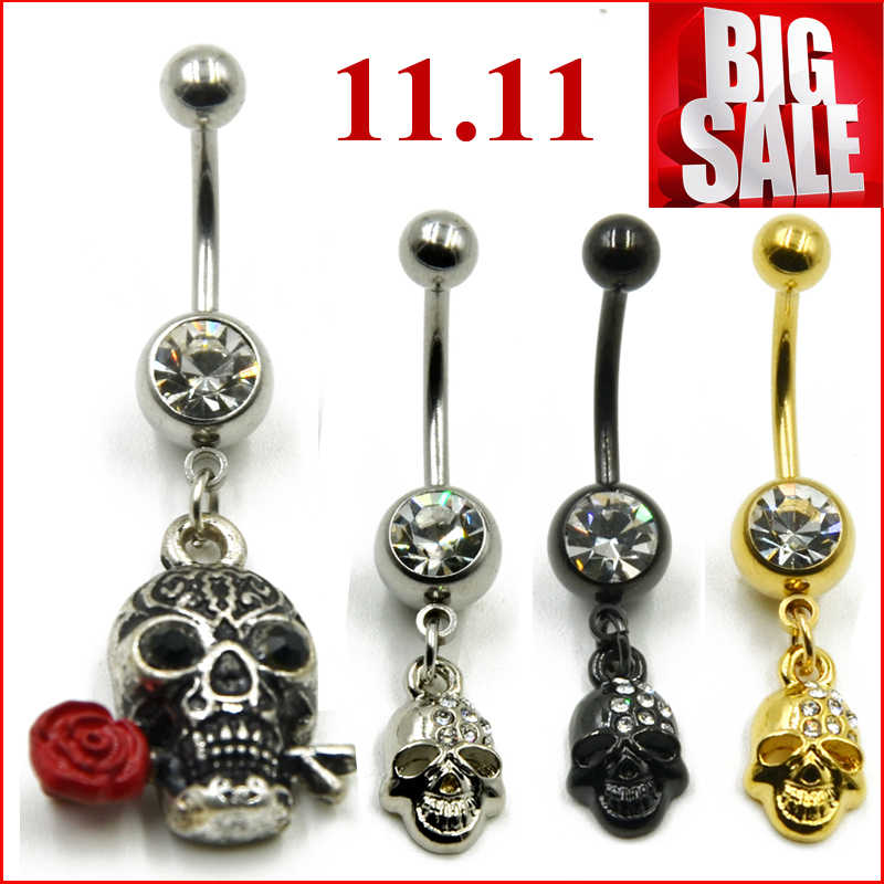 1pc Gemmed Play Basketball Dangle Belly Button Ring Navel Piercing Nombril Ombligo Body Jewelry