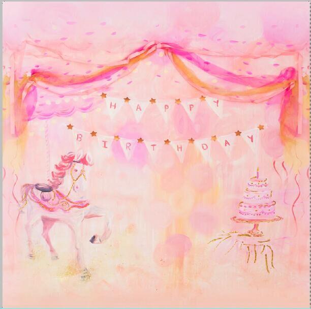 8x8ft pink little pony happy birthday party cake girl kids custom