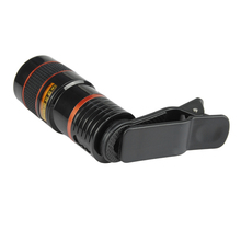 Universal 8X Zoom Optical Telescope Phones Camera Lens For Samsung For Xiaomi Mobile Tablets With Universal Clip Portable