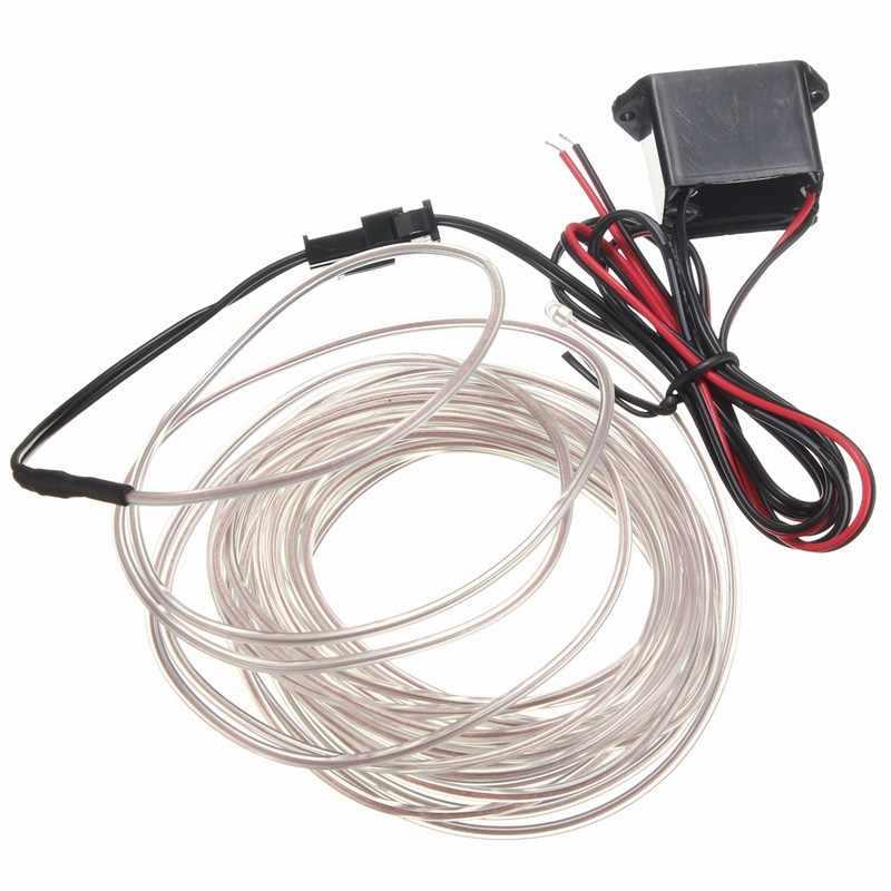 Smuxi 5 м Гибкий EL провод с неоновым светом для танцевальной вечеринки декоративный светильник неоновый светодиодный светильник EL провод веревка трубка водонепроницаемая светодиодная лента + контроллер