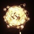 NUEVA 33Ft 100 LEDs Flores Luces de Cadena de Cobre LED Luces de Hadas de Plata con 12 V DC Adaptador de Corriente para la Navidad Decoración de la boda