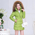 Winter fashion parka fur collar hooded jacket cotton wadded coat casual winter jacket womens parka  jackets overcoat TT1041