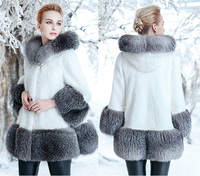 Rabbit Coat Rushed Limited Full Faux Vest Mink Imitation In The Long Section 2017 Coat Female Whole With Cap Large Size Women