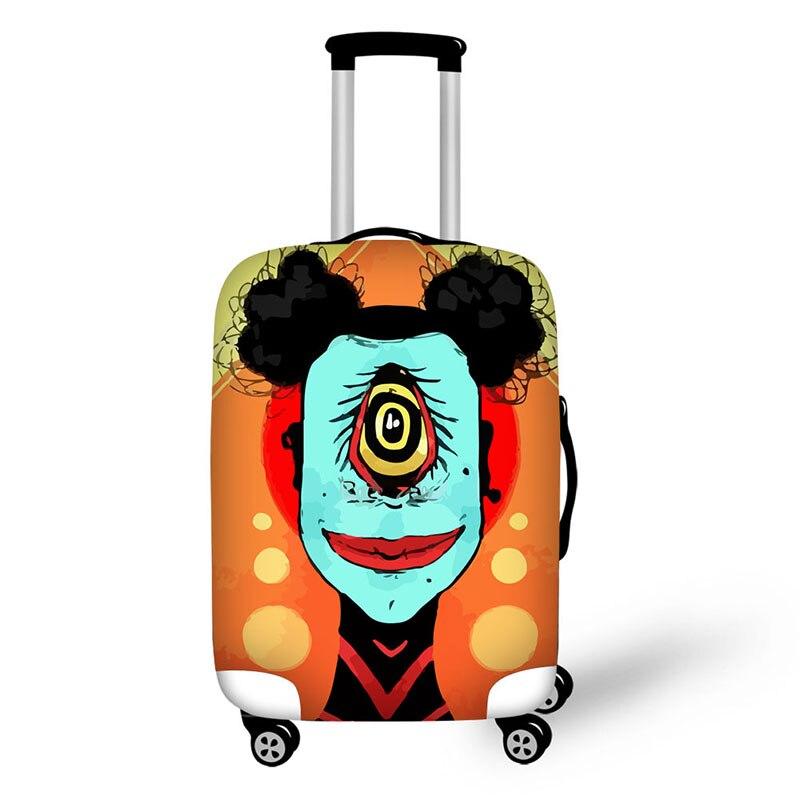 Чехол модные дорожные аксессуары 3D граффити Симпатичные Белка плотные эластичные Чемодан Защитная крышка 18-30 дюймов Чемодан крышка