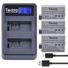 Tectra 3PCS LP-E5 LPE5 Battery + LCD USB Twin Charger for Canon EOS Insurgent XS Insurgent T1i Insurgent XSi 1000D 500D 450D Kiss X3 Kiss