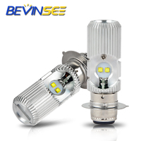 2 PCS Motorcycle Headlight Bulbs Hi/Low Beam For YAMAHA Banshee 350 YFZ350 1987 2006 6000K P15D Bright Auto Lamps -