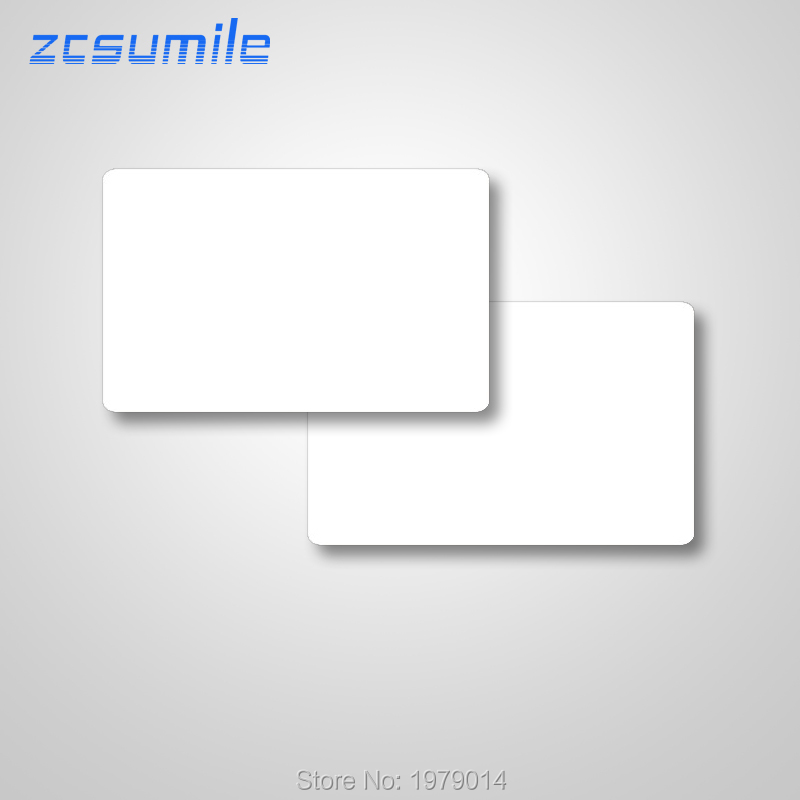 100 Pcs/lot  Printable Blank PVC Card Non Chip Only For Direct-to-card Printer Free Shipping