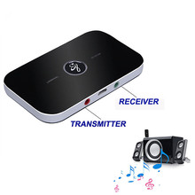 B6 2 in1 Bluetooth 4.0 Transmitter & Receiver Wireless A2DP Audio Adapter Aux 3.5mm Audio Player for TV / MP3 /Smartphone /PC siroflo bluetooth transmitter receiver with nfc audio 3 5mm aux bluetooth adapter for pc smartphone bluetooth receiver
