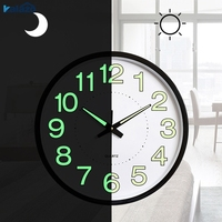 3D Luminous White Wall Clock Quartz Secret Stash Guess Watch Mechanism Kids Rooms Kitchen Hanging Clock Relogio Parede WZH480