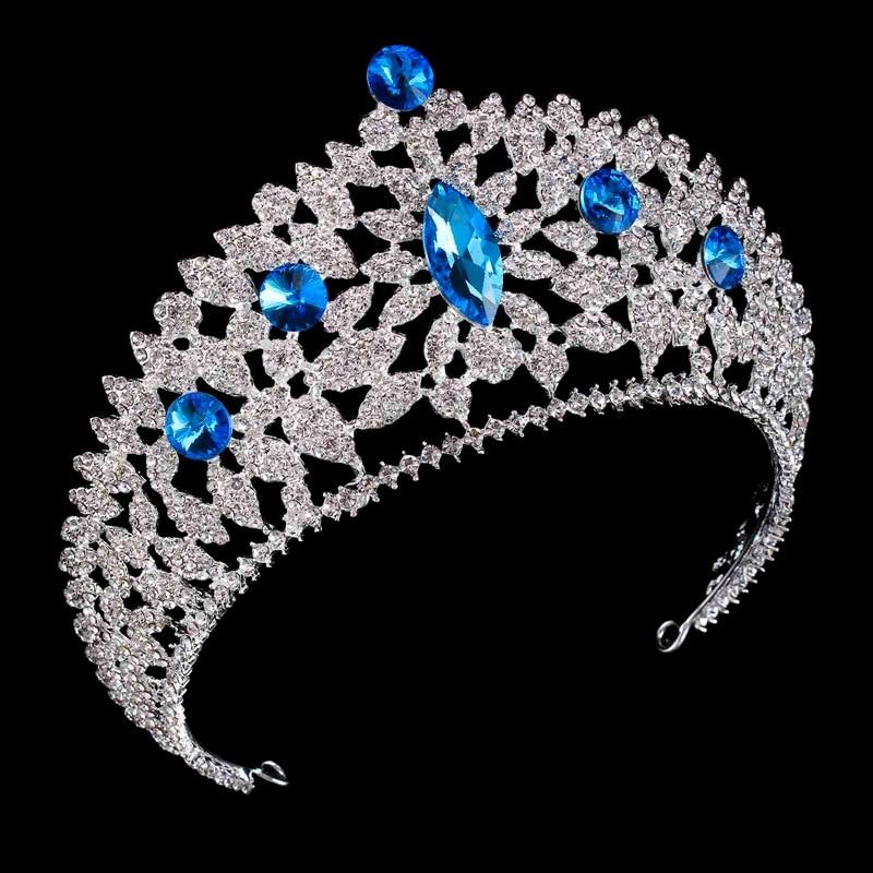 Luxury Vintage Pageant Diadem Wedding Crown headband Bridal Baroque Princess Crown Rhinestone Tiara Crown hair accessories цена 2017