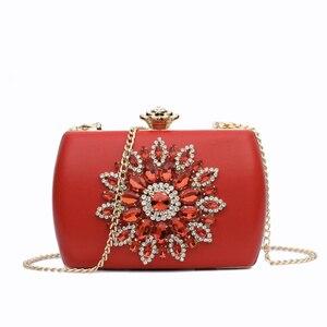 Image 3 - Nyhed bolsa de noite feminina casamento embraiagens diamante bolsa para senhora cadeias pequena bolsa