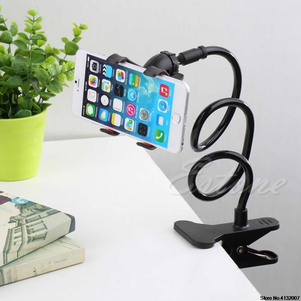 1Pc Universal Lazy Bed Desktop Mount Car Stand Holder For Cell Phone Long Arm