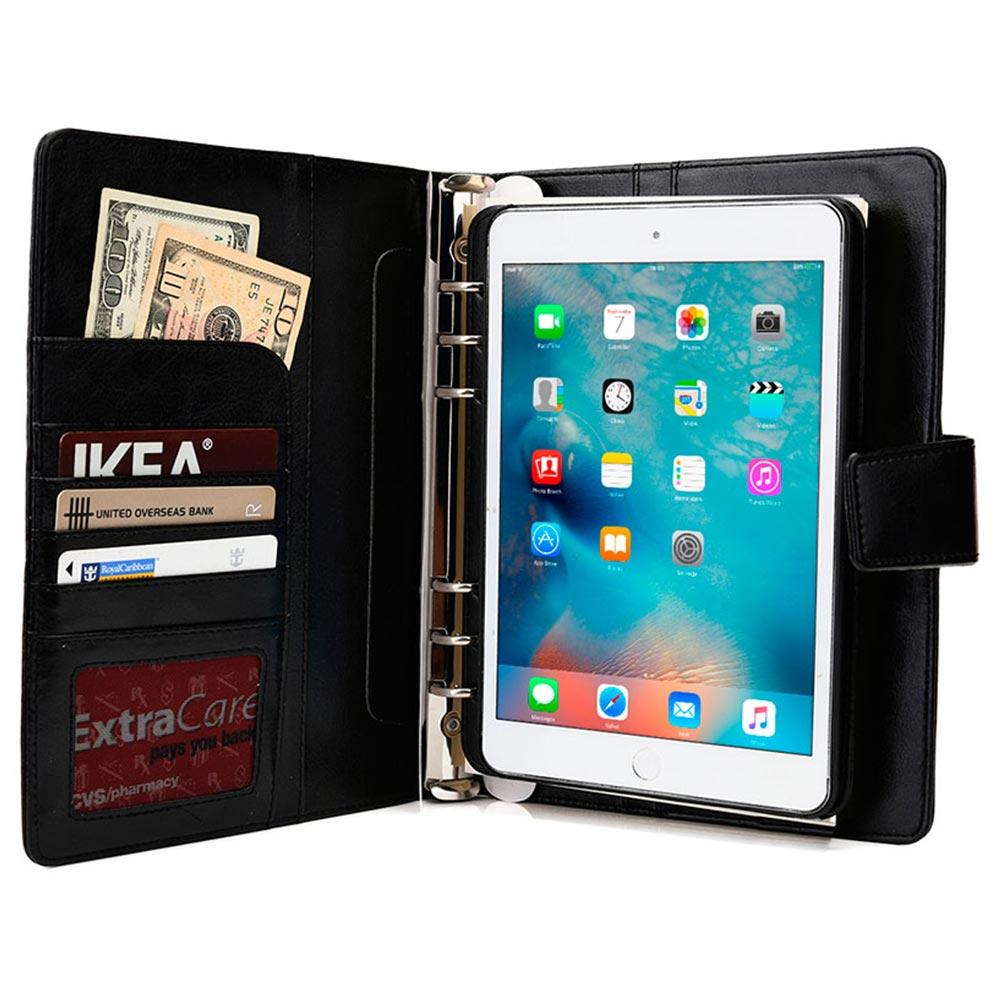 portfolio case for apple ipad mini 4 cooper foldertab executive binder pu leather case cover
