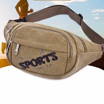 2019 new men and women pockets riding pockets men and women heuptas printed nylon waterproof belt bag brand design headphone jac
