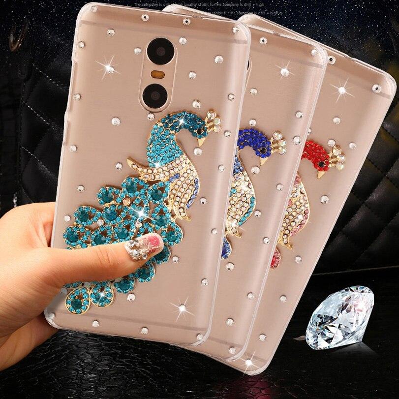 brand new 0aade 0582d US $4.0 20% OFF|Peacock Rhineston for Xiaomi Redmi Note 4 case redmi note 4  pro case hard PC Back cover For redmi note 4 pro cases 5.5
