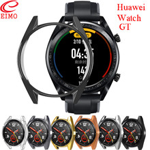 Huawei Watch GT case For huawei watch gt strap cover soft TPU plated All-Around protective shell Smartwatch Accessories M25
