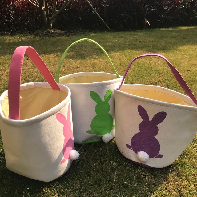 Happy easter burlap bunny ears bags kids gift easter basket 4 colors happy easter burlap bunny ears bags kids gift easter basket 4 colors home party decoration rabbit negle Images