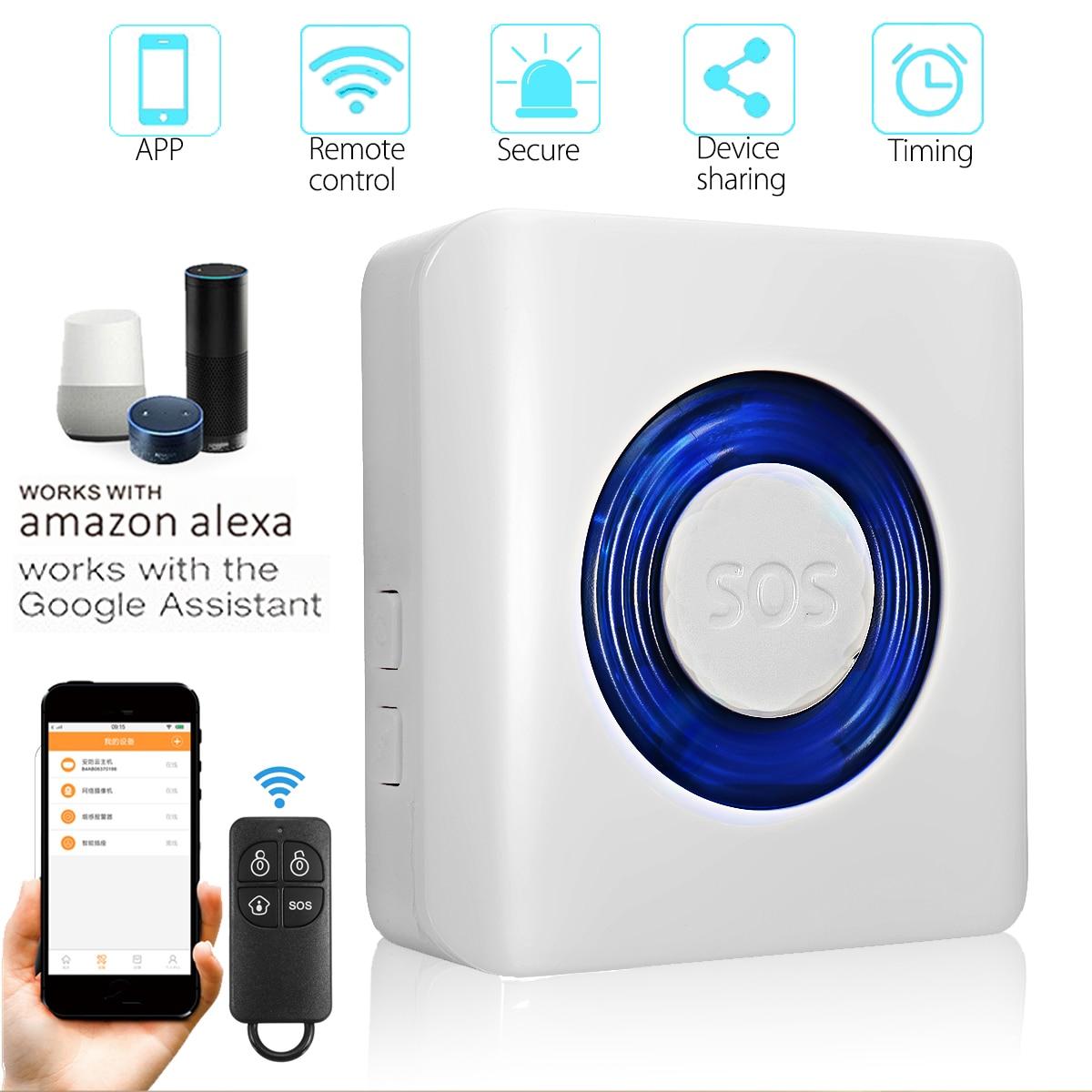 Smart WIFI Home Security Alarm System APP Control Wireless Dual Infrared Detector Burglar Work With Alexa Google Home