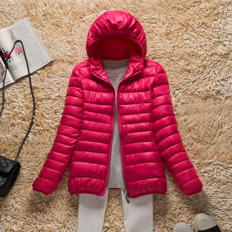 2018 NEW Autumn Winter Ultra Light Women Down Cotton Jacket Hooded Coat Thin Slim   Parka   Female Short Outwear Plus size 4XL AA346