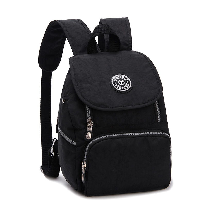Preppy Style Women Small Backpack Waterproof Nylon Rucksack Lady Women's Shoulder Bags Female Casual Travel School Bag Mochila