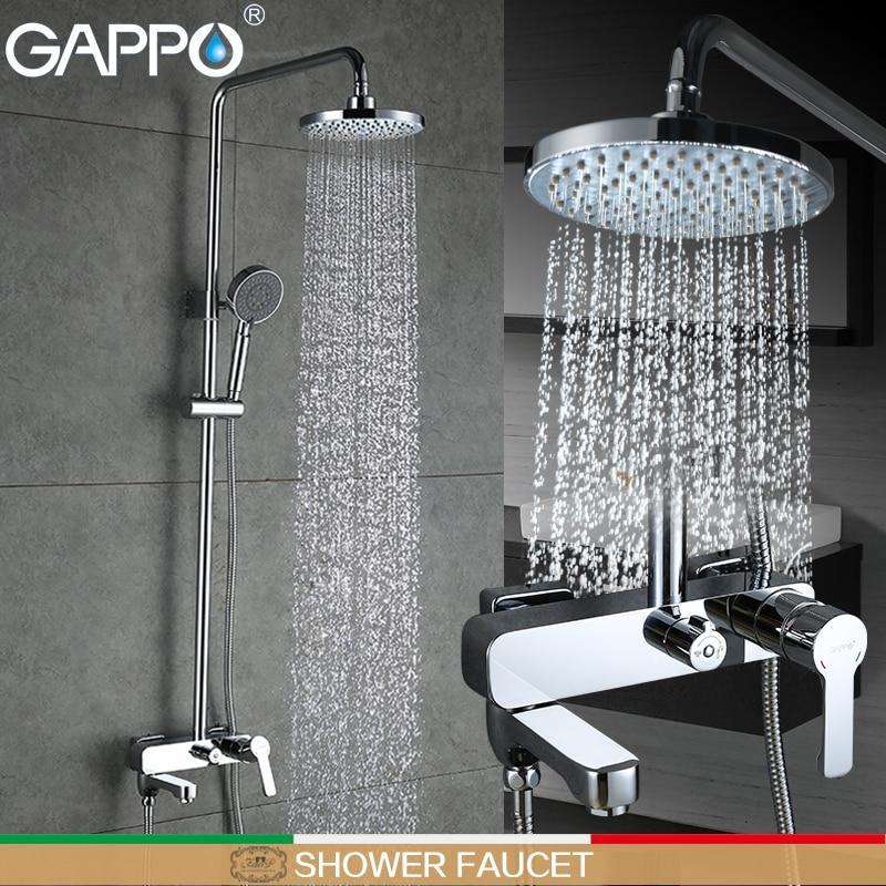 GAPPO banho de chuveiro do banheiro Chuvas torneira torneira misturadora banheira chuveiro torneira misturadora set banho de chuveiro montagem na parede torneira do banheiro mixer