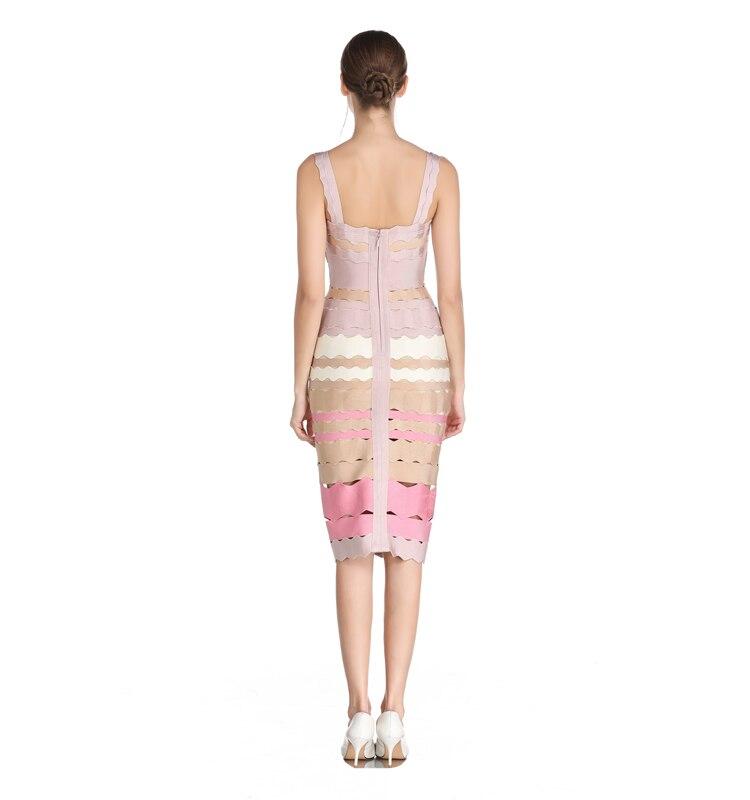 Clair Moulante Celebrity Robe Qualité Multi Party V Robes Cou Top Bandage Évider Couleur Célébrité 2017 De Femmes Sexy HUqxxvwTa