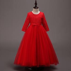 Image 4 - 새로운 어린이 결혼식 신부 들러리 파티 드레스 소녀의 생일 파티 성능 공 아름다움 파티 드레스 vestidos de fiesta