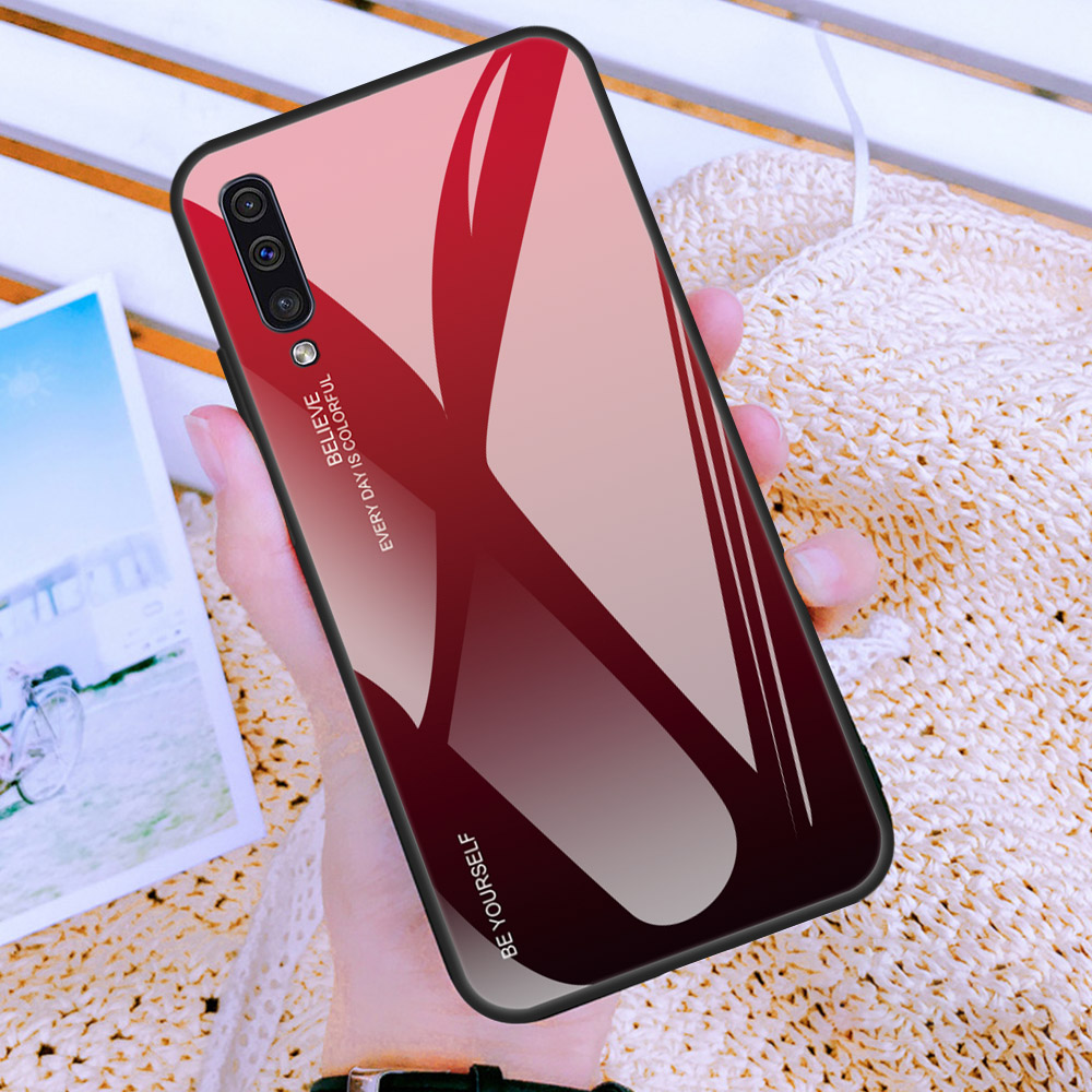 Gradient Glass Case For Samsung A30S A50S A30 A50 S A 30S 50S A 30 50 S Case Protective Shell A10 A20 A70 A50 A60 A40 A20e Case