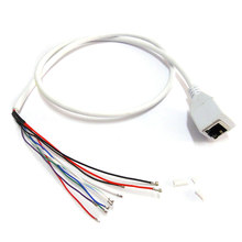 CCTV POE IP network Camera PCB Module video power cable 60cm RJ45 female connector with Terminlas