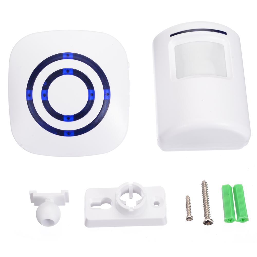 1pcs Visitor Doorbell Wireless PIR Store Shop Welcome Motion Sensor Entry Visitor Doorbell Alarm Door Bell with EU Plug