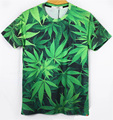 Harajuku 2016 forman a mujeres / hombres malezas de hoja de cáñamo print galaxy marca 3d camiseta plam hojas jerseys shirt tee camiseta más el tamaño M-XXL