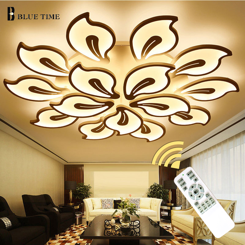 White Acrylic Modern LED Chandelier For Living Room Bedroom LED Lustres Large Ceiling Chandelier Lighting Fixtures AC85-260V リビング シャンデリア