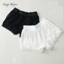 Shugo Wynne Mori Girl Under Shorts Summer New Women Kawaii Cos Elastic Waist Bottoming Shorts Loose Lace Pumpkin Shorts