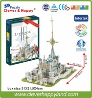 Best selling toy 3d puzzle game Lineage 2 Aden Castle paper model 224PCS