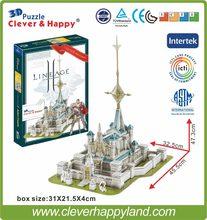 Melhor venda brinquedo 3d puzzle jogo lineage 2 aden castelo modelo de papel 224 peças