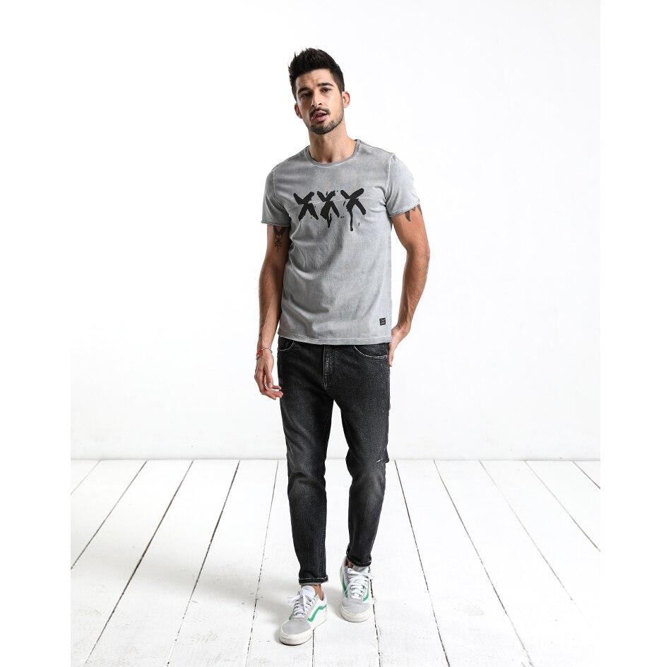 HTB1G0N.mr9YBuNjy0Fgq6AxcXXaj - SIMWOOD 2019 Summer Vintage T Shirt Men Slim Fit Fashion Short Sleeve Pattern Vintage Cotton Tops High Quality Tee 180142