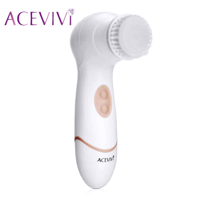 ACEVIVI 3 in 1 Electric Face Cleaner Brush Skin Care Blackhead Makeup Removal Washing Brush Face Massager Body Exfoliator Scrub 5 in 1 electric facial cleanser waterproof deep cleansing skin care washing brush soft massager face cleaner